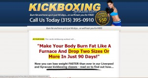 Kickboxing web copywriting sample
