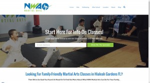 sample martial arts website